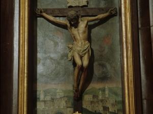 Iglesia parroquial de la Natividad de Urrestilla. Escultura. Cristo Crucificado