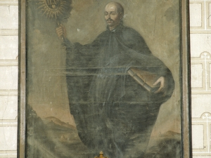 Iglesia parroquial de la Natividad de Urrestilla. Pintura. San Ignacio de Loyola