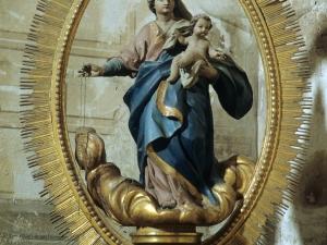 Iglesia parroquial de la Natividad de Urrestilla. Escultura. Virgen del Rosario