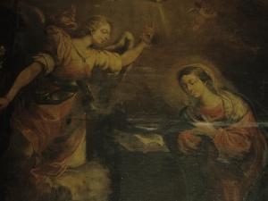 Iglesia parroquial de la Natividad de Urrestilla. Pintura. Anunciación
