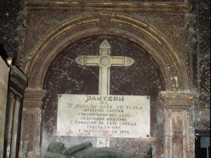 Iglesia parroquial de San Sebastián de Soreasu. Panteón de Nicolas Saenz de Elola