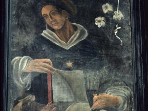 Iglesia parroquial de San Sebastián de Soreasu. Pintura. Santo Domingo