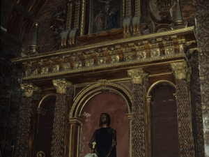 Iglesia parroquial de San Sebastián de Soreasu. Retablo del Calvario