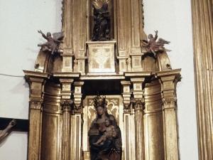 Iglesia parroquial de San Juan Bautista. Retablo de la Virgen con niño