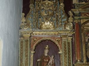 Iglesia de Nuestra Señora de la Asunción de Eldua. Retablo de la Virgen con niño