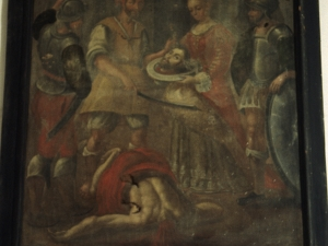 Ermita de San Juan. Pintura. Martirio de San Juan Bautista