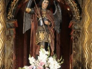 Iglesia parroquial de San Miguel de Angiozar. Escultura. San Miguel Arcángel