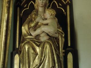 Iglesia parroquial de San Miguel de Angiozar. Escultura. Andra Mari