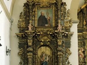 Iglesia parroquial de San Andrés de Elosua. Retablo de la Virgen del Rosario