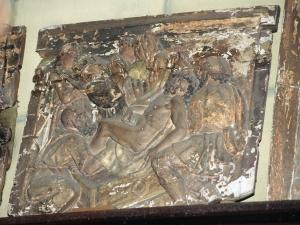Iglesia parroquial de Nuestra Señora de la Asunción y del manzano. Santo entierro de Cristo. Relieve