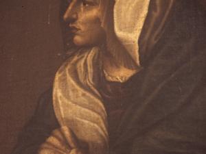 Iglesia parroquial de Nuestra Señora de la Asunción y del manzano. Pintura. Figura femenina