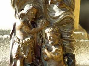 Santuario de Nuestra Señora de Guadalupe. Bautismo de Cristo. Relieve