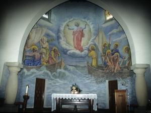 Iglesia de Santa María Magdalena. Pintura mural. La pesca milagrosa