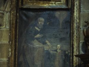 Iglesia parroquial de Nuestra Señora de la Asunción. Pintura. San Joaquín y la Virgen niña