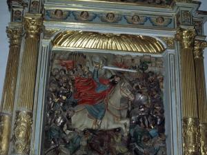 Iglesia parroquial de Nuestra Señora de la Asunción. Retablo de Santiago Matamoros
