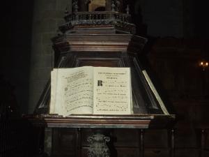 Iglesia parroquial de Nuestra Señora de la Asunción. Facistol