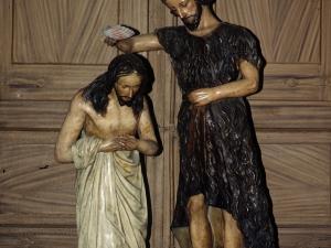 Iglesia parroquial de San Bartolomé. Escultura. Bautismo de Cristo