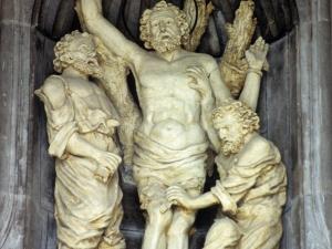 Iglesia parroquial de San Bartolomé. Escultura. Martirio de San Bartolomé