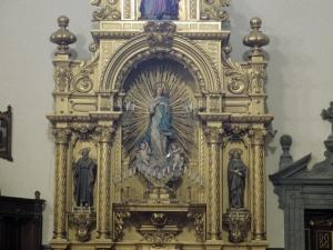 Iglesia parroquial de San Bartolomé de Bidania. Retablo de la Inmaculada Concepción