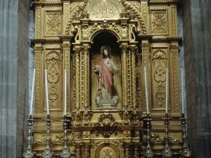 Iglesia parroquial de San Bartolomé de Bidania. Retablo del Sagrado Corazón de Jesús