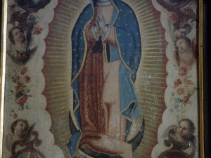 Iglesia parroquial de San Bartolomé de Bidania. Pintura. Virgen de Guadalupe