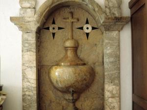 Iglesia parroquial de Nuestra Señora de la Asunción de Goiatz. Aguamanil
