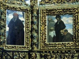 Santuario de Nuestra Señora de Arrate. Pintura. Peregrinos