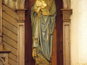 Iglesia parroquial de San Miguel Arcángel de Aginaga. Escultura. Virgen con niño