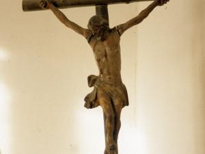 Iglesia parroquial de San Miguel Arcángel de Aginaga. Escultura. Cristo Crucificado