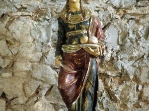 Ermita de San Román de Aginaga. Escultura. Santa Águeda