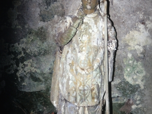 Humilladero de San Ildefonso de Aginaga. Escultura. San Ildefonso
