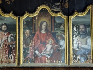 Iglesia parroquial de Nuestra Señora de la Asunción. Virgen. Tríptico
