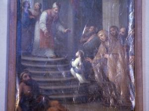 Iglesia parroquial de Nuestra Señora de la Asunción. Pintura. Presentación de la Virgen en el templo