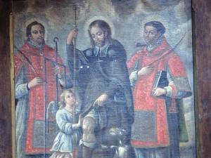 Iglesia parroquial de Nuestra Señora de la Asunción. Pintura. San Lorenzo, San Roque y San Antolín