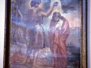 Iglesia parroquial de Nuestra Señora de la Asunción. Pintura. Bautismo de Cristo