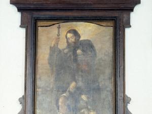 Ermita de San Roque. Pintura. San Lorenzo, San Roque y San Antolín