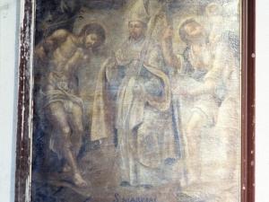 Ermita de San Roque. Pintura. San Marcial, San Sebastián y San Cristóbal