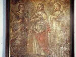 Ermita de San Roque. Pintura. Santa Águeda, Santa Apolonia y Santa Lucía
