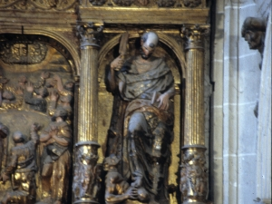 Iglesia parroquial de Nuestra Señora de la Asunción. Detalle del retablo de Santiago