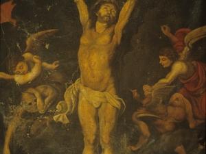 Iglesia parroquial de San Martín de Tours. Pintura. Cristo Crucificado