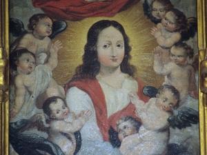 Iglesia parroquial de San Martín de Tours. Pintura. Santa