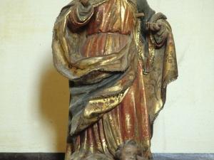 Iglesia parroquial de Santa M. Magdalena de Marin. Escultura. Virgen con niño