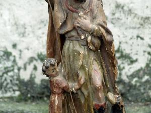 Iglesia parroquial de San Miguel Arcángel de Apotzaga. Escultura. San Roque