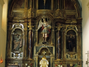 Iglesia parroquial de San Miguel Arcángel de Bolivar. Retablo de San Miguel Arcángel