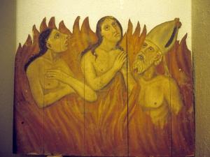 Iglesia parroquial de San Miguel Arcángel de Bolivar. Ánimas. Pintura sobre tabla