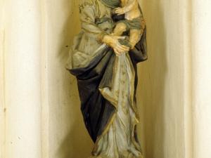 Iglesia parroquial de Nuestra Señora de la Asunción de Gellao. Escultura. Virgen con niño