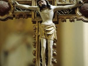 Iglesia parroquial de Nuestra Señora de la Asunción de Gellao. Escultura. Cristo Crucificado