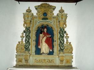 Ermita de San Martín de Eizmendi. Escultura. San Martín de Tours