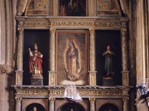 Iglesia parroquial de San Salvador. Retablo de la Virgen de Guadalupe
