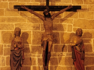 Iglesia de San Martín de Askizu. Escultura. Calvario